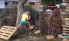 Diy Peg Wall For Kids And Adults Backyard Ninja Obstacle
