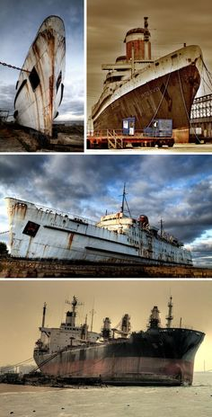 The decline of shipping has led to many abandoned ships, boats, shipyards and docks from Grytviken to the Aral Sea and Statan Island. Abandoned Ships, Abandoned Mansions, Abandoned Buildings, Abandoned Houses, Abandoned Places, Abandoned Property, Abandoned Vehicles, Ghost Ship, Armada