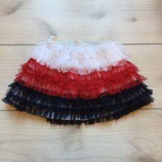 Children's Place Red White & Blue Tulle Ruffle Skirt