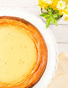 Italian Ricotta Pie: This ricotta-based, Italian-style cheesecake filling in a buttery tart crust is lightly sweetened and flavored with orange zest and lemon.