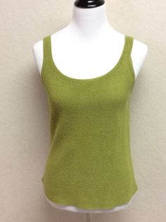 Eileen Fisher Small Linen Blend Green Sweater Tank Top | eBay