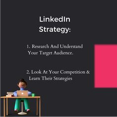 When it comes to LinkedIn; Research and understand your target audience and look at your competition & learn their strategies. Contact us: +91 7021052107 hello@thedigitalco.in #tdc #thedigitalco #digitalmarketingstrategy #digitalmarketingtrends #websiteservices #graphicdesigners #website #instagram #digital #facebook #marketing #digitalmarketing #seo #socialmedia #entrepreneurship #webdesigntrends #linkedin #socialmediamarketing #branding #b#strategy Digital Marketing Trends, Digital Marketing Strategy, Facebook Marketing, Social Media Marketing, Website Services, Web Design Trends, Marketing Professional, Data Analytics, Target Audience