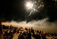 Fireworks on the beach in Cape Charles, VA (© Jesse Warren/Getty Images)
