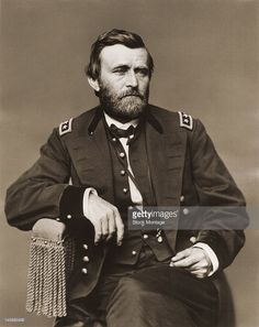 Portrait of American military commander (and future US President) Ulysses S. Grant (1822 - 1885), mid 19th century.