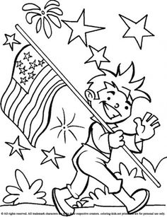Of July USA Flag Coloring Pages Printables For Toddlers