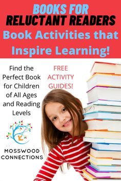 Help Children Develop Reading Fluency and Comprehension Skills: Books for Reluctant Readers #mosswoodconnections #literacy #reluctantreaders #chapterbooks #readingskills #readingfluency Hands On Activities, Educational Activities, Classroom Activities, Activities For Kids, Reading Levels, Reading Skills, Wimpy Kid Books, Bob Books, Learning Games For Kids