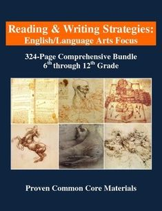 """This 324-PAGE bundle [a 50% savings off the cost of purchasing EACH unit individually] includes various reading and writing strategies, representing Dr. Pauker's """"Structured Writing and Thinking Program,"""" that have been implemented in hundreds of classrooms. Each of the following strategies is designed to enhance Common Core skills, as well as student comprehension, organization, and communication."""