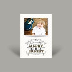 Merry & Bright 5x7 Christmas Card (10 pk)