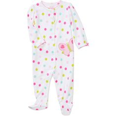 Child of Mine by Carters Newborn Girls' Dot Butterfly Sleep n Play Jumpsuit