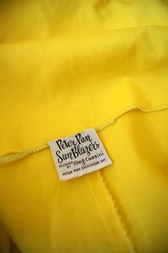 60s playsuit label