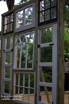 Repurposed Windows Greenhouse http://ourfairfieldhomeandgarden. http://ourfairfieldhomeandgarden.com/building-a-repurposed-windows-greenhouse/com/building-a-repurposed-windows-greenhouse/