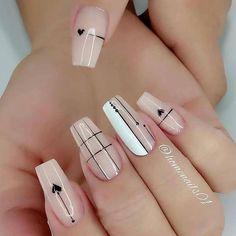 Acrylic Nails Coffin Pink, Square Acrylic Nails, Acrylic Nail Designs, Pink Nails, Chic Nails, Stylish Nails, Swag Nails, Nail Manicure, Gel Nails