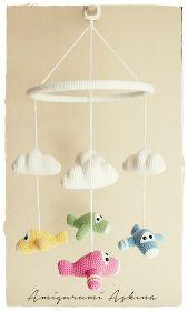 Amigurumi Aşkına: Amigurumi Uçaklı Dönence Tarifi-Free Pattern Amigurumi Baby Mobile
