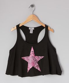 Take a look at this Black Jersey Swing Tank by So Nikki on #zulily today!