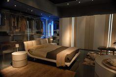Mazzali: Zefiro bedroom and Line wardrobe | by MAZZALIARMADI.IT