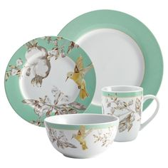 16-Piece Hummingbird Dinnerware Set - The Winning Recipe on Joss & Main