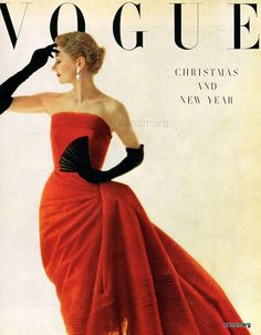 1950's Vogue prints with frames | Vintage Vogue Fashion Magazine January 1950 Irving Penn Repint