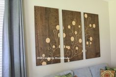 DIY wall art with plywood