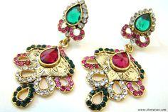 Earrings Chandelier 2 Color Options Kundan by StoreUtsavFashion, $22.88