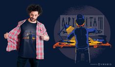 HandyMan T-Shirt Design featuring an illustration of a guy working on a garage with all his tools. Can be used on t-shirts, hoodies, mugs, posters and any other Powerpoint Free, Creative Powerpoint, Shirt Print Design, Shirt Designs, Cute Baby Cow, Shirt Maker, Layout Template, T Shirt, Hoodies