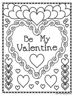 543 Free, Printable Valentine's Day Coloring Pages for Kids: Valentine Coloring Pages at Coloring Castle