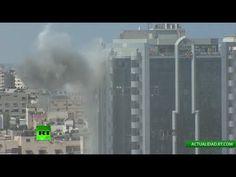 Conflicto palestino-israelí: Un edificio en el centro de Gaza es atacado...