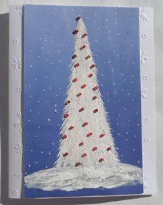 Christmas Tree Card Hand Painted Christmas by LisasPaintedCrafts