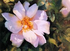 """"""" Rose"""" watercolour by Trevor Waugh"""