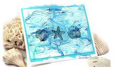 Create an Ocean Setting Using a Woodgrain Stamp