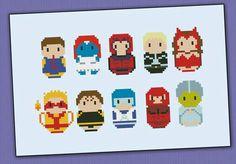 Marvel vilans cross stitch pattern
