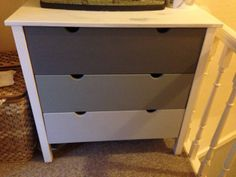 Grey ombre chest of drawers DIY