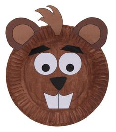 Paper Plate Beaver Craft or Mask This adorable beaver craft uses a printable template and a paper plate to make a project suitable for a forest animals, mammals, letter B theme, Canada Day theme or just for fun.
