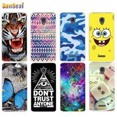 For Alcatel Pop 4 Plus 5056D 5056E 5056T Case Cover Tiger Butterfly Panda Tower Soft Silicone TPU Cover Case Capa Coque Funda