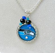 Seattle Seahawks Pendant Necklace by SportsJewelryStudio on Etsy.  #EtsyGifts