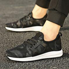US $18 Men Brand Shoes Casual Shoes Mens Trainers Breathable Camo Shoes Leisure Zapatillas Deportivas Hombre Hip Hop
