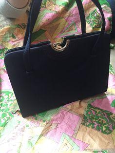 Navy Handbag Susan Of London Bond Street Vintage 50 S Bag Unused Stylish Designer