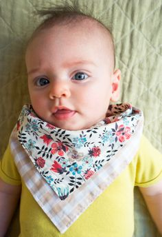 Molly's Sketchbook: Bandana Bibs - Knitting Crochet Sewing Crafts Patterns and Ideas! - the purl bee
