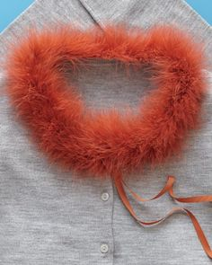 Add marabou to sweater collars for a pop of color!
