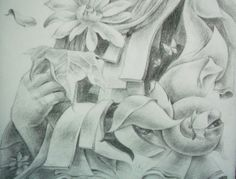 Butterfly & Flower : Pencil on Paper (Zoom Detail Pencil Drawings, Art Drawings, Butterfly Flowers, Painting Prints, Sculpture, Fine Art, Detail, Paper, Sculptures