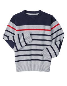 Kids Clothes, Toddler Clothes & Baby Clothes- Kids Clothes, Toddler Clothes & Baby Clothes Standout Stripe Sweater at Gymboree - Knitting Patterns Boys, Knitting For Kids, Knitting Designs, Baby Knitting, Boys Sweaters, Men Sweater, Toddler Outfits, Kids Outfits, Woolen Clothes