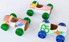 basteln mit klopapierrollen diy ideen deko ideen basteln mit kindern autos tinkering with paper towels diy ideas decorating ideas with kids cars Paper Crafts For Kids, Easy Crafts For Kids, Toddler Crafts, Preschool Crafts, Diy For Kids, Paper Crafting, Car Crafts, Paper Towel Roll Crafts, Toilet Paper Roll Crafts