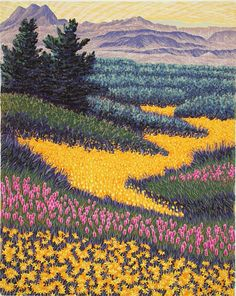 Gordon Mortensen : April, High Desert at Davidson Galleries Landscape Art, Landscape Paintings, Gravure Photo, Davidson Galleries, Illustrations, Illustration Art, Print Artist, Artist At Work, Art Inspo