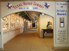 The Texas Rodeo Cowboy Hall of Fame.  Located in the Cowtown Coliseum in the Historic Fort Worth StockYards, Fort Worth, Texas