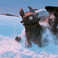 Toothless is so done. How to Train Your Dragon 2
