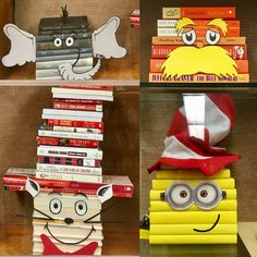 Dr Seuss book art display