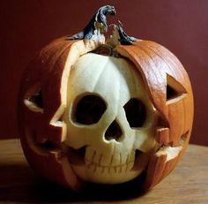 Pretty awesome pumpkin carving idea.