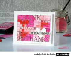 lovely thank you card found at hero arts blog