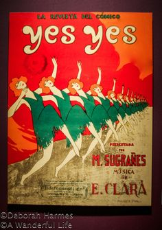 1920s vintage poster from Barcelona, Spain