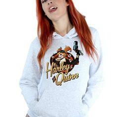 5878f5e8 DC Comics Women's Bombshells Harley Quinn Badge Hoodie Dc Comics Women,  Shirt Shop, Bombshells