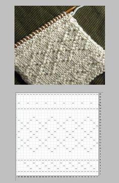Lace Knitting Stitches, Baby Boy Knitting Patterns, Knitting Charts, Loom Patterns, Easy Knitting, Loom Knitting, Stitch Patterns, Crochet Patterns, How To Purl Knit